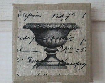 Small linen fabric - Medici Vase (n ° 1)