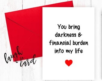 Funny valentine's card, Boyfriend Card, girlfriend card, funny, rude cards, valentines, Anniversary, wife, husband