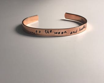 Copper Custom Hand Stamped Bangle