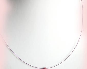 Pink drop necklace with a glass bead