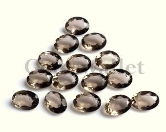 Smoky Quartz Cut cabochon, Smoky Quartz Oval Cut Gemstone, Smoky Quartz Cut Cabochon Lot, 12x16 mm, Gemstone