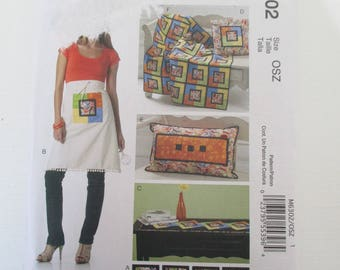 pattern apron, cushion, quilt, coaster MC CALL's S
