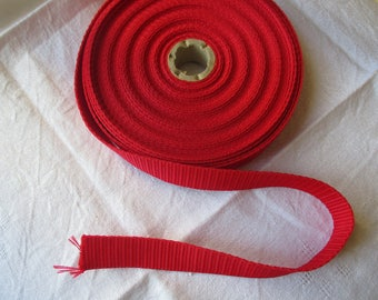 Red long webbing 2.5 cm