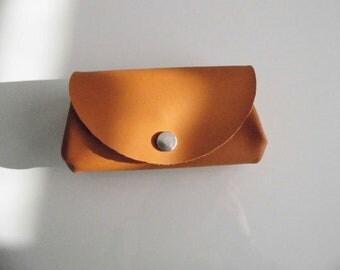 Wallet leather genuine caramel color