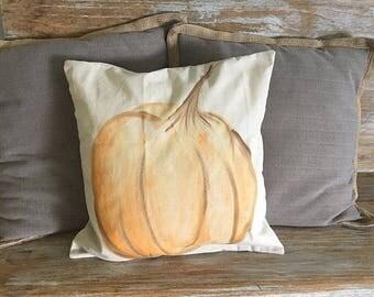 18x18 Pumpkin pillow cover