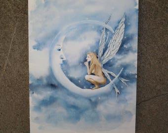 "watercolor ""Elf of the Moon"""