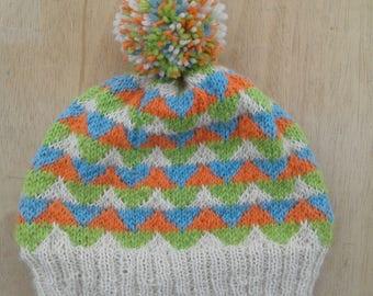 Jacquard winter women Hat wool