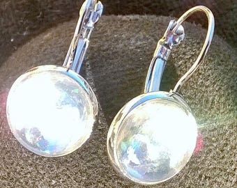 """""""Relief cabochon"""" earrings"""