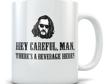 Big Lebowski Mug - Funny Dude Coffee Cup - Great Gift Mug for Fans of The Movie
