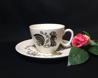 Good Morning by Royal China Coffee Cup and Saucer