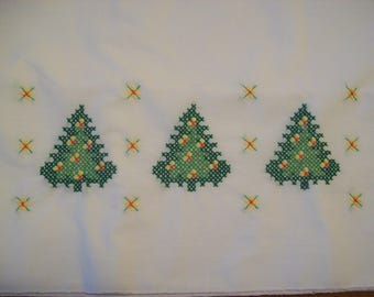 Christmas Tree Trio Pillowcases, holiday, gift, winter, birthday