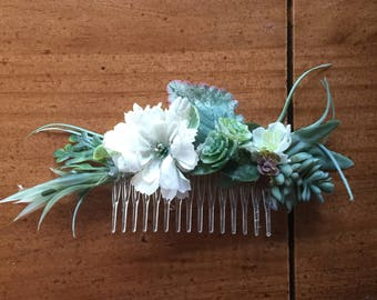 Faux Bridal/Wedding/Special Occasion floral/succulent/greenery hair combs