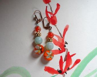 Kumquat orange earring