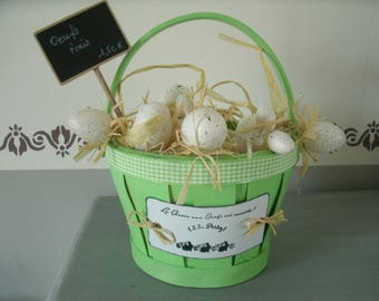 basket in the spirit of Easter egg Garland with