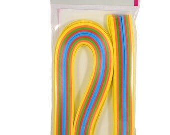 Strips for quilling 3 widths, 5 colors (set of 300)