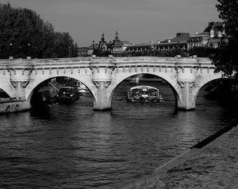 """Photography black and white: """"a life Seine standard 2"""" - Paris, FRANCE - 2008"""