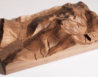 Relief carved 3D Mountain Range Scafell Pike
