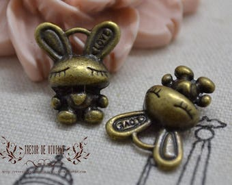 QDW085, Bronze pendant, rabbit