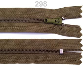 khaki nylon closure size 20 cm