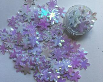 Iridescent Sequin Flowers