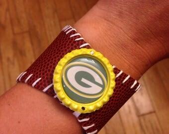 Green Bay Packers Football Bracelet