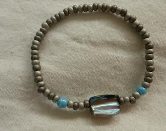 Bronze turquoise bracelet