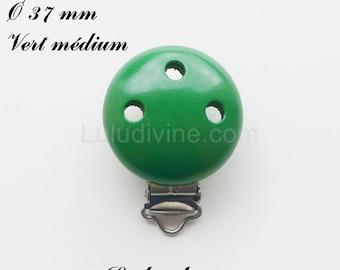 Clip / wooden pacifier Clip, Ø 37 mm from loop: medium Green