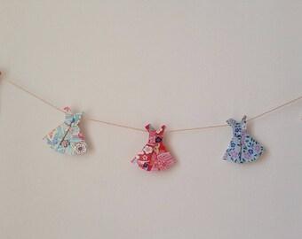"""Dresses"" origami wall wreath"