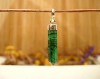 Sterling Silver and Malachite.