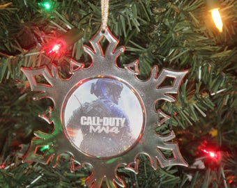 Call Of Duty Modern Warfare 4 Acrylic SnowFlake Ornament *Free Personalization*