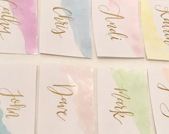 Pearlescent Place Cards