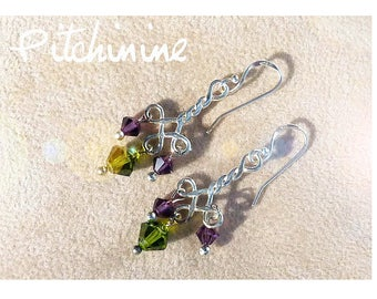 original with its braided silver and purple swarovski crystals and green hues