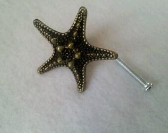 Button door or drawer Starfish - cardboard/furniture