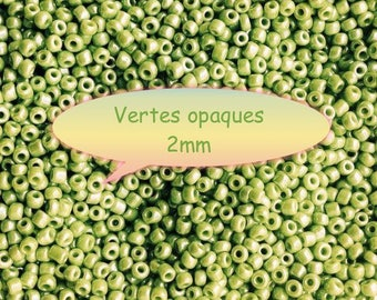♥ 10gr green anise seed Pearl 2mm♥