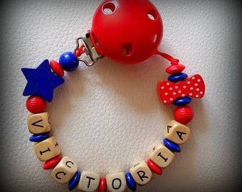 Pacifier personalized with names