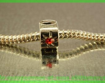 Pearl N21 clip stopper European blocker rhinestones for charms bracelet