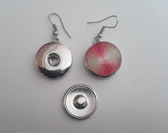 earrings for 18mm snap buttons