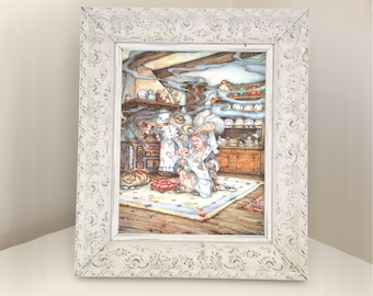 Lewis Carroll Alice in Wonderland Book Page. Illustration for Framing. Duchess and Baby. Queen of Hearts. Bedroom Nursery Playroom Den Decor