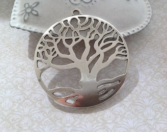 1 large sterling silver tree of life 61 mm