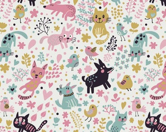 ORIGINAL design, durable and WASHABLE PLACEMAT - child drawing. Cat happy and other - classic.