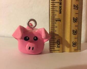 Kawaii pink pig charm/pendant