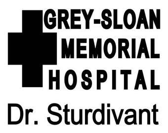 Grey Sloan Memorial Hospital Inspired Decal