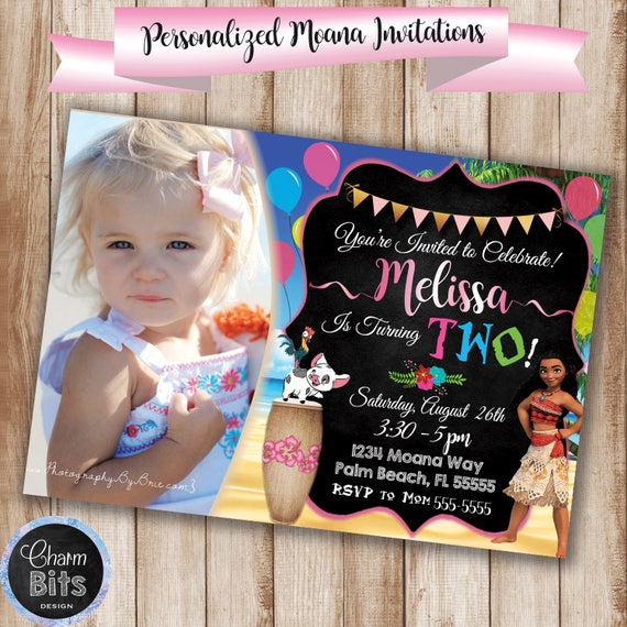 Moana Birthday Invitation Picture