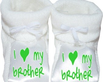 slippers personalized baby i love my brother
