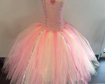 Pink tutu dress 8-10 years
