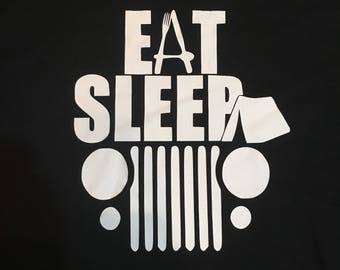 Eat Sleep Jeep t shirt for jeeps