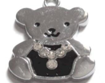 5 pieces teddy bear doll Alloy Charm Pendant - A0034