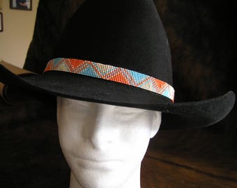 Custom beaded hatband