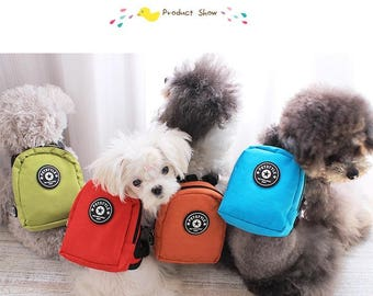 Small Dog Backpacks with matching leash in 5 Colors 2 sizes