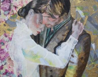 """""""Love Slow"""" canvas - mixed media"""